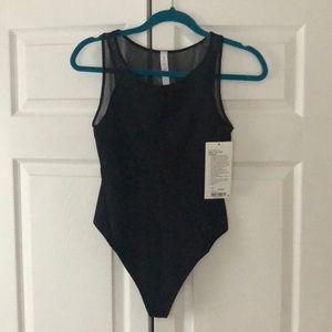 lululemon athletica Tops - Lululemon Seek the Heat Bodysuit 6 Black